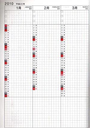 年間インデックスページ